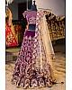 Purple velvet heavy embroidered wedding lehenga choli