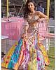 Rainbow tapeta silk paper zari work heavy lehenga choli for ceremony