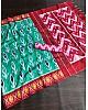 Rama slub linen cotton digital printed work saree