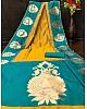 Rama soft lichi golden jacquard weaving work ceremonial saree