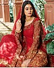 Red georgette embroidered cording with sequence work lehenga choli