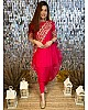 Red georgette embroidered punjabi patiala suit