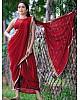 Red georgette sequence work partywear saree