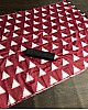Red italian finished cotton silk digital printed work saree