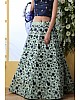 Sea green art silk sequence thread embroidered bridal lehenga choli