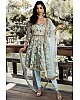 Sea green georgette embroidery sequence work salwar suit