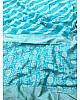 Sky blue soft lichi silk jacquard weaving work wedding saree