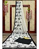 White georgette with sequence work party wear saree
