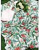 White pure soft chinon silk digital printed work saree