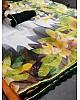 White soft silk organza digital printed work saree