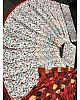 White taffeta silk embroidered foil mirror work traditional lehenga choli