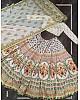 White vaishali silk printed embellish sequins work lehenga choli