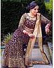 Wine velvet heavy embroidered mirror work wedding lehenga choli