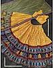 Yellow vaishali silk digital printed ceremonial lehenga choli