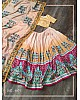 Yellow vaishali silk digital printed lehenga choli