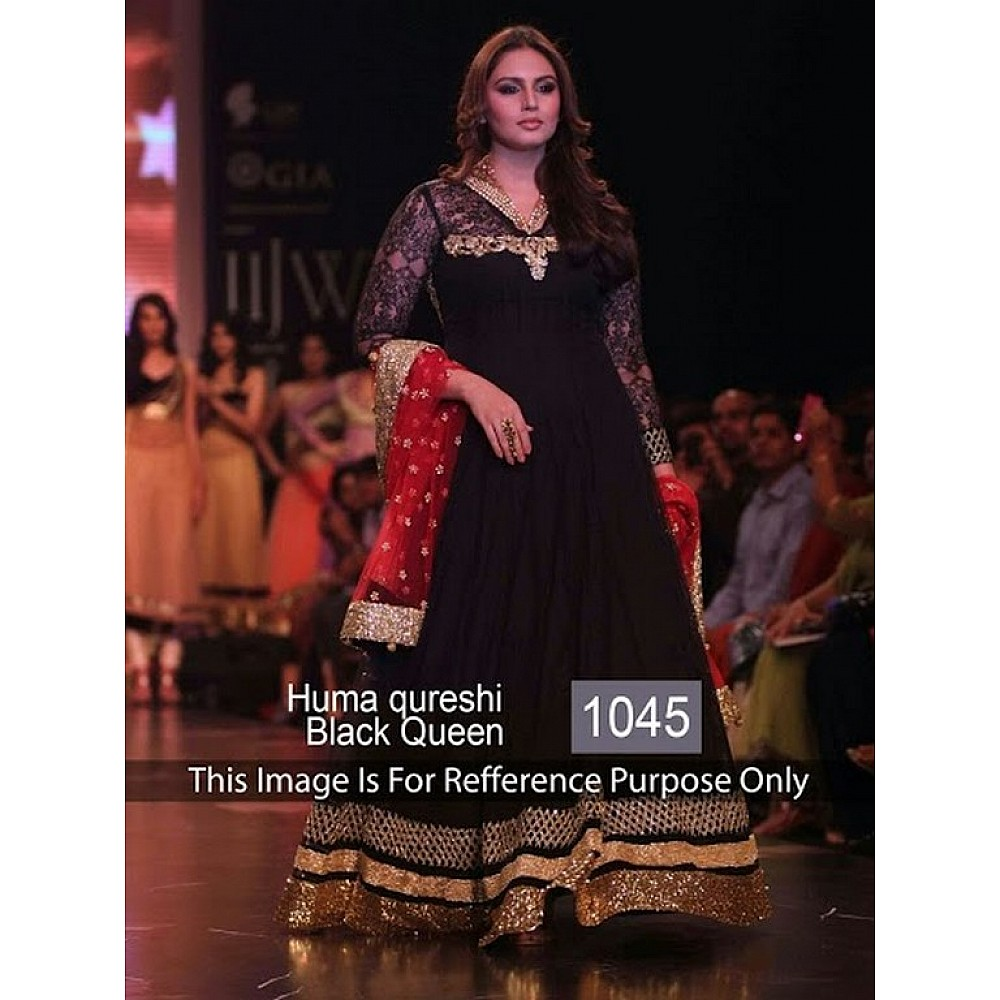 Huma Qureshi black queen salwar suit