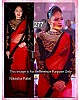 NIKESHA PATEL BEAUTIFUL RED & BLACK SAREE