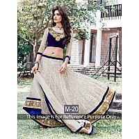KG fashion gorgeous rich look  cream lehenga
