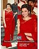 kajal agarwal beautiful red saree