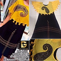 stylist Black with Yellow Festival Kurti