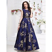 Stylist Blue Party Wear Gown