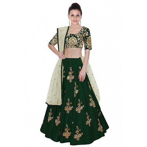 Stylist Green embroidered Wedding lehenga