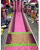 Stylist Pink Printed Ceremonial Saree
