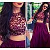 Stylist purple lehenga with embroidered blouse