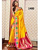 Stylist Yellow Printed Ceremonial Saree