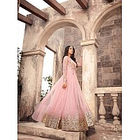 Trendy gorgeous peach wedding anarkali suit